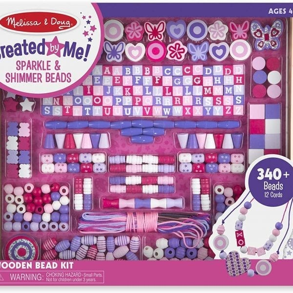 Melissa and Doug Bead Sets Deluxe Collection - Wooden Bead Set