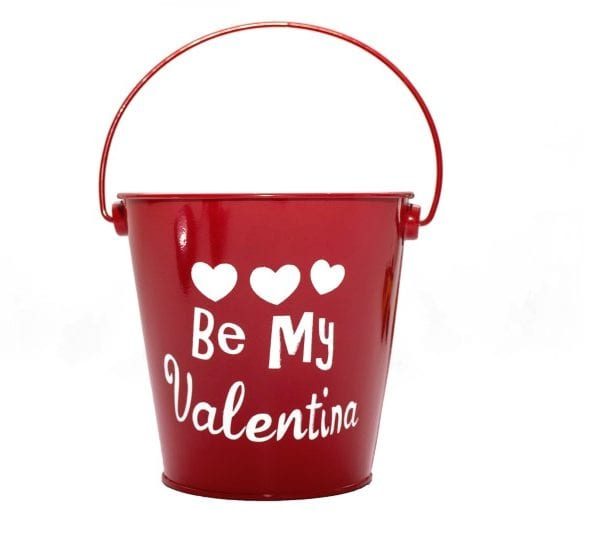Be My Valentina Party Bucket