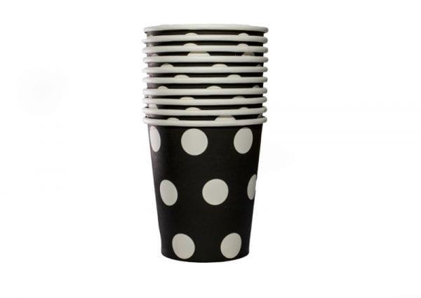 Black Polka Dot Paper Cup