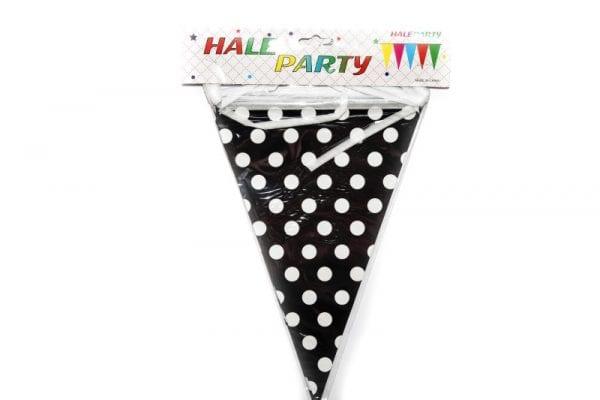 Black Polka Dot Party Hat