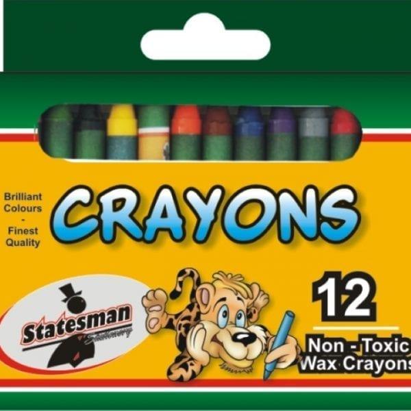 Crayons 12 Pack Standard (Statesman)