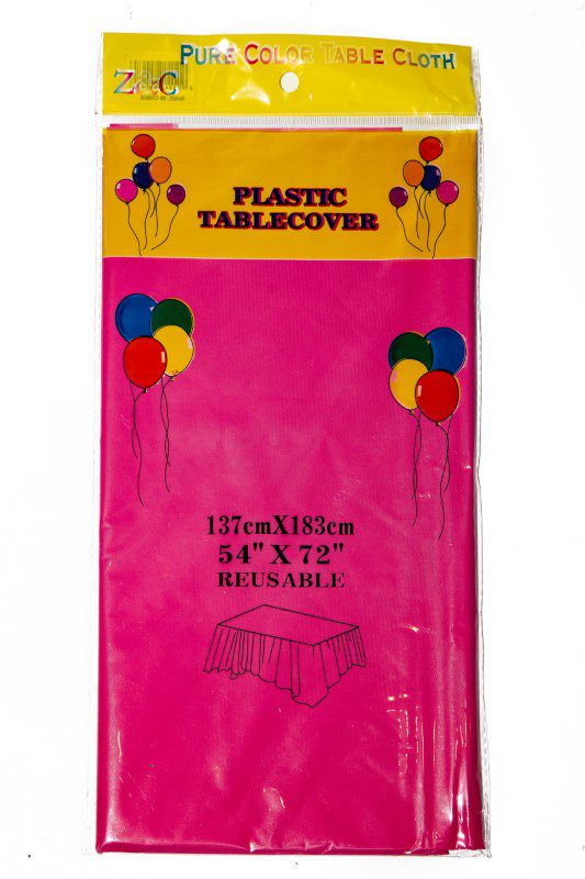Dark Pink Plastic Table Cover