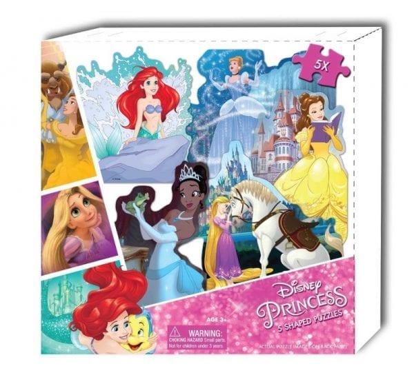 Disney Princess 5 Shaped Puzzles in Box