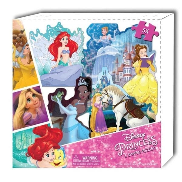 Disney Princess 5 Shaped Puzzles in Box