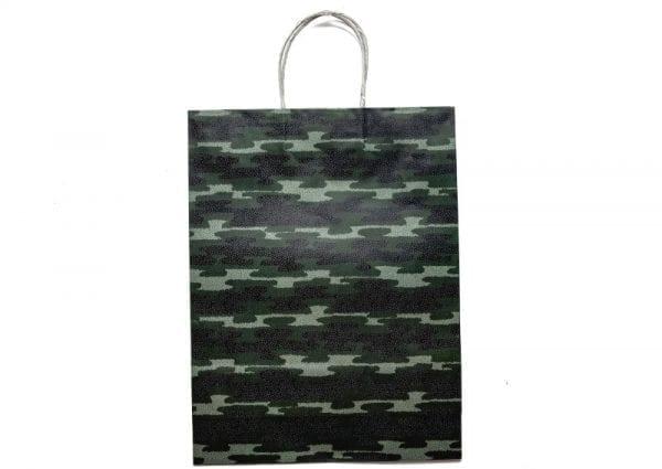 Green Camo Gift Bag