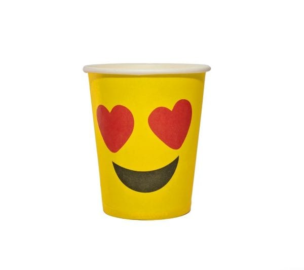 In Love Emoji Paper Cup