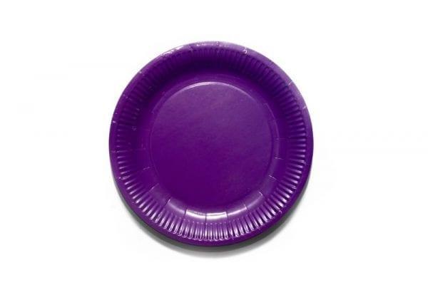 Purple Paper Plate