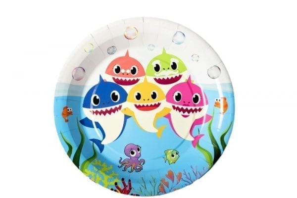 Baby Shark (Narwhal) Paper Plate