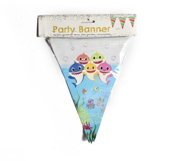 Baby Shark (Narwhal) Party Banner