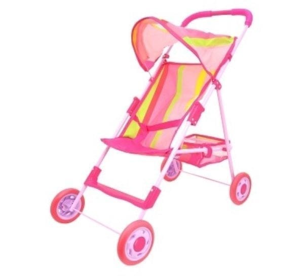 Doll Buggy with Canopy and Basket - Assorted