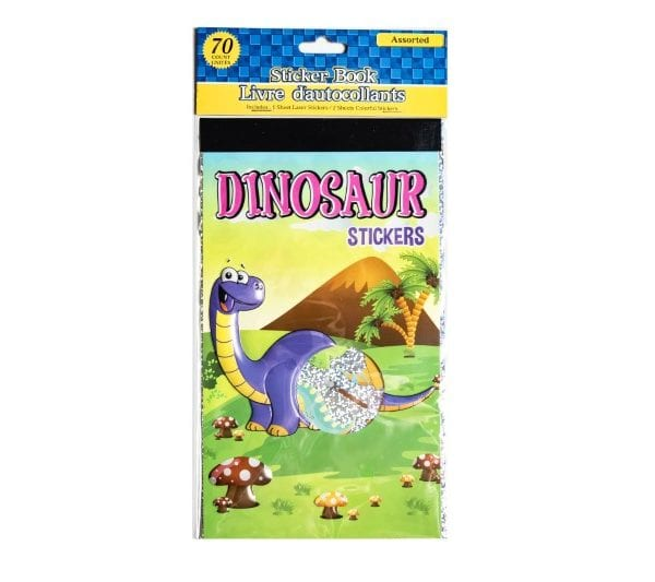 Dinosaur Stickers and Sticker Book
