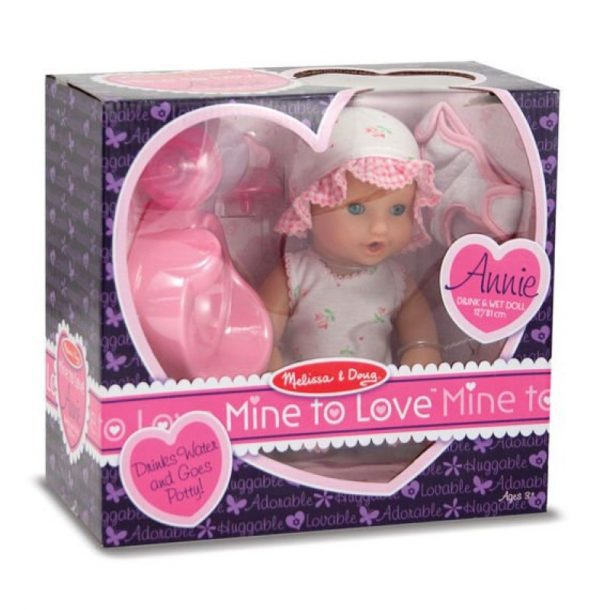 Melissa and Doug Annie - 12 Inch Drink and Wet Doll