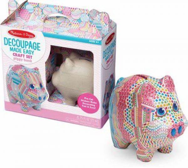 Melissa and Doug Decoupage Made Easy - Piggy Bank