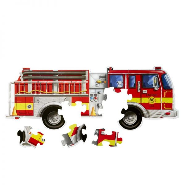Melissa and Doug Giant Fire Truck Floor Puzzle - 24 Piece