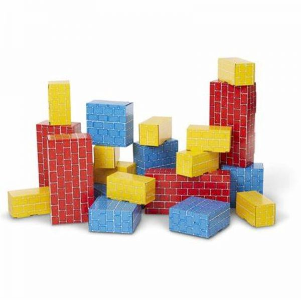 Melissa and Doug Jumbo Cardboard Blocks - 24 Pieces