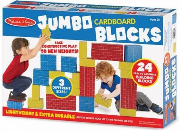Melissa and Doug Jumbo Cardboard Blocks - 24 Pieces