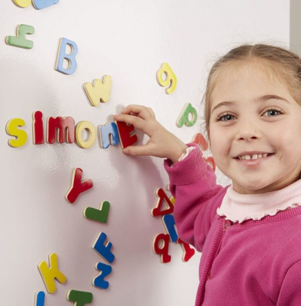 Melissa and Doug Magnetic Wooden Alphabet