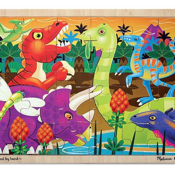 Prehistoric Sunset Jigsaw Puzzle (24 pc)